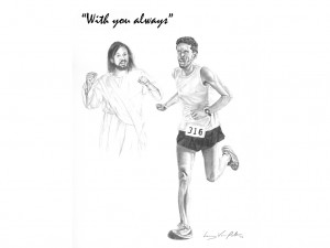Jesus with Jogger