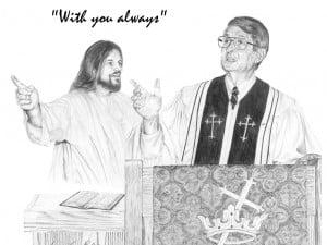 Jesus with Preacher