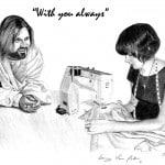 Jesus with Seamstress