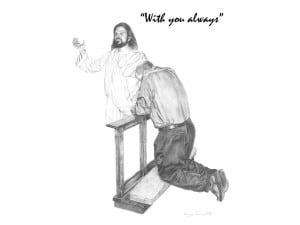 Jesus with The Praying