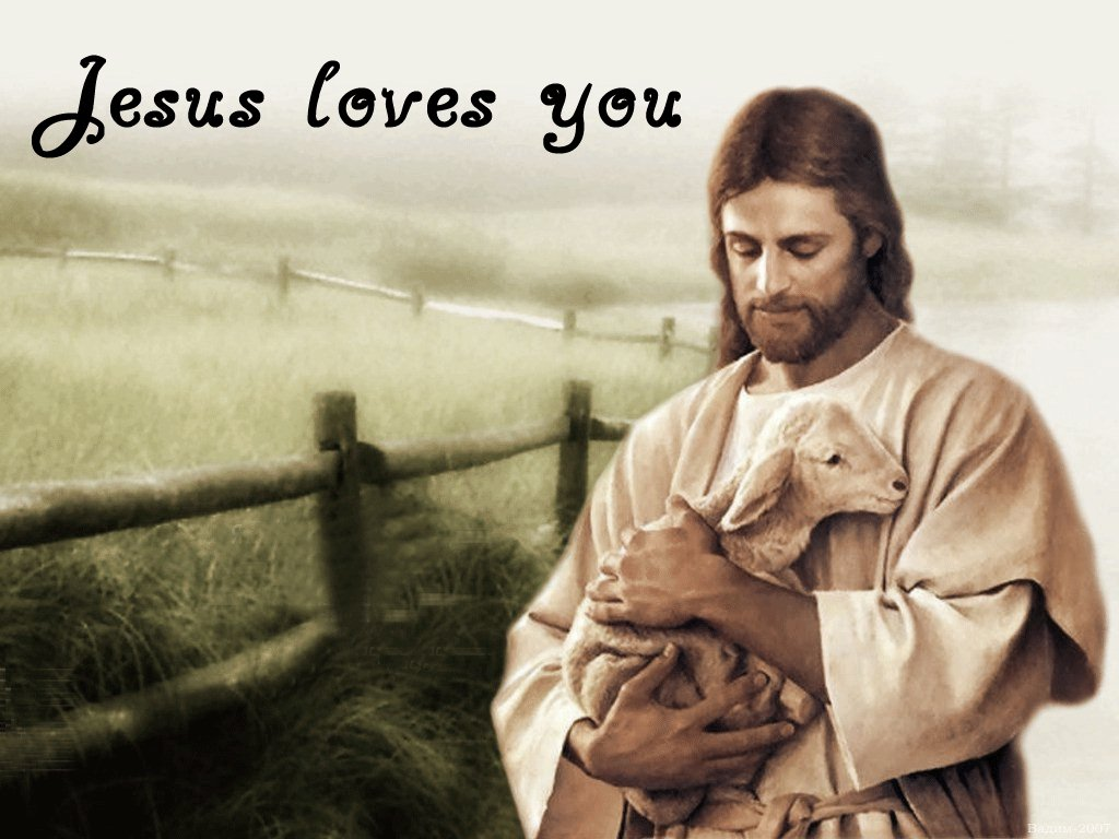 Wallpaper Love For Jesus : Jesus Loves You Wallpapers