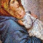 Mary And Jesus Mosaic