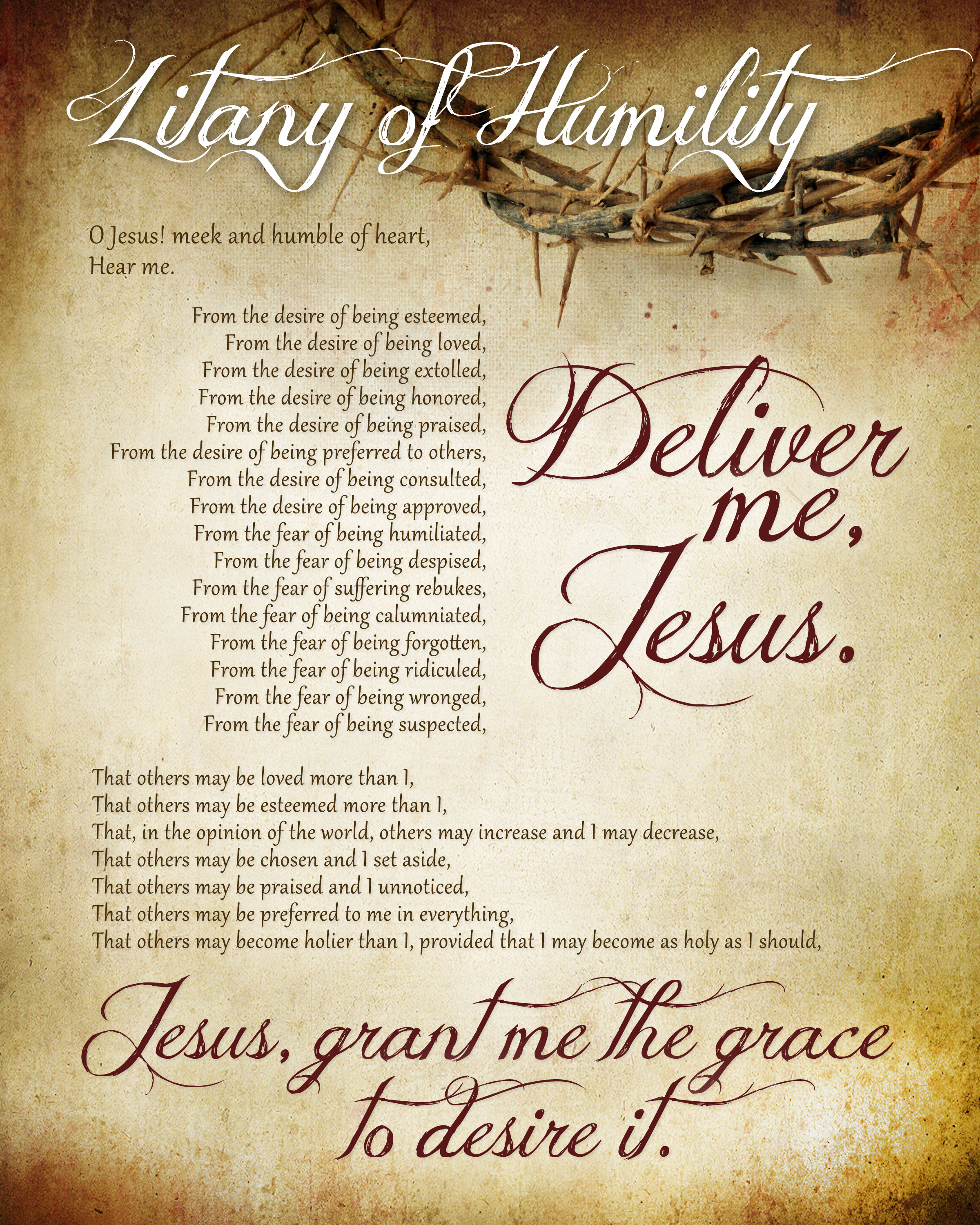 litany of humility