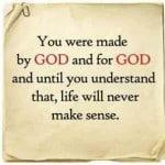 Made by God for God