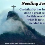 Needing Jesus